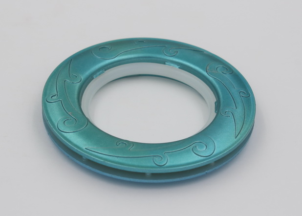 44mm oriental style blue matt embossed round window decoration ...