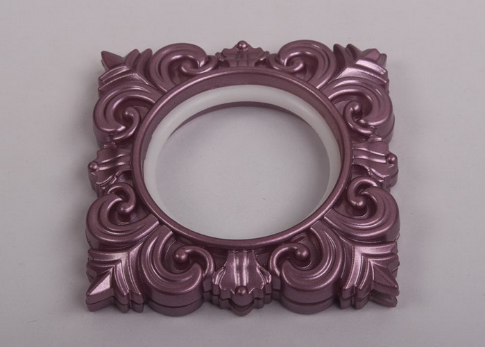 44mm self-tightening light purple embossed square window ...